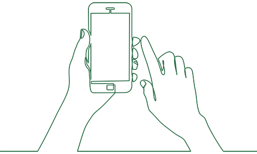 Illustration av smartphone